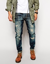 Replay Jeans Maestro Temar Regular Tapered Dirty Distress Blue