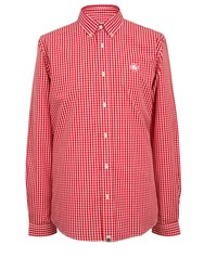 Pretty Green Slim Fit Ebsworth Gingham Shirt Red