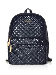 M Z Wallace Metro Quilted Backpack Navy