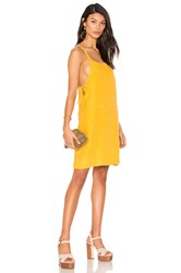York Street Bib Slip Dress With Ties Yellow