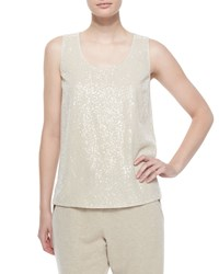 Lafayette 148 New York Cleo Sleeveless Sequined Front Blouse Women's