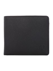Fred Perry Saffiano Billfold Wallet Black