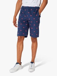 Paul Smith Ps Exclusive Half Sun Print Shorts Navy