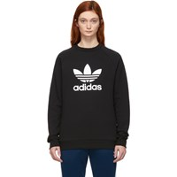 Adidas Originals Black Trefoil Warm Up Sweatshirt