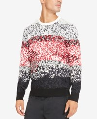 Kenneth Cole Reaction Men's Colorblocked Pixel Camo Print Sweater Black