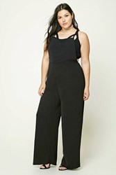 Forever 21 Plus Size Self Tie Overalls Black