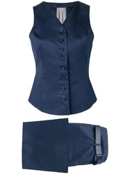 Gianfranco Ferre Vintage 1990'S Two Piece Suit Blue