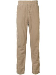 James Perse Elasticated Waist Straight Leg Trousers Brown