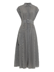 Bottega Veneta Gingham Print Shirtdress