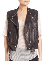 Iro Neo Lace Up Leather Vest Black