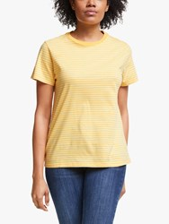 John Lewis Collection Weekend By Stripe Cotton T Shirt Yellow