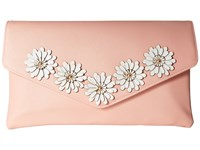 Jessica Mcclintock Arielle Flower Applique Envelope Clutch Blush Clutch Handbags Pink