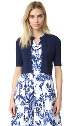 Lela Rose Cropped Cardigan Navy