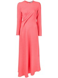 Edeline Lee Twist Front Dress Pink Purple