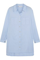 Heidi Klein St Barths Cotton Chambray Shirt Sky Blue