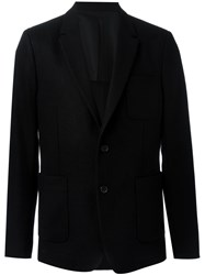 Ami Alexandre Mattiussi Patch Pockets Blazer Black