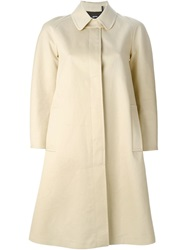 Jil Sander Navy Pleated Back Raincoat Nude And Neutrals