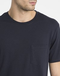 Element Navy Chest Pocket Round Neck T Shirt Blue