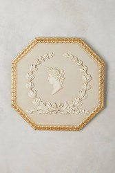 Anthropologie Profile Intaglio Wall Art Cream