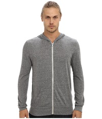 Alternative Apparel L S Zip Hoodie Eco Grey Men's Sweatshirt Gray