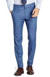 Bonobos Men's Big And Tall Jetsetter Flat Front Solid Stretch Wool Trousers Brighter Blue