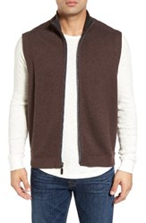 Tommy Bahama Men's Big And Tall Flip Side Pro Reversible Knit Vest Old Oak Heather