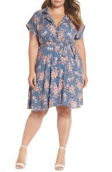 Angie Plus Size Floral Shirtdress