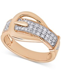 Macy's Diamond Buckle Ring 1 4 Ct. T.W. Rose Gold