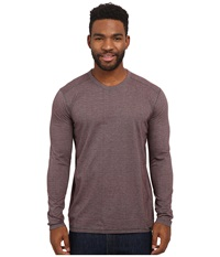 Prana Keller L S Crew Raisin Men's Long Sleeve Pullover Brown