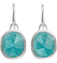 Monica Vinader Siren Sterling Silver And Amazonite Wire Earrings