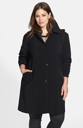 Plus Size Women's Gallery 'Napage' Raincoat With Detachable Hood And Liner