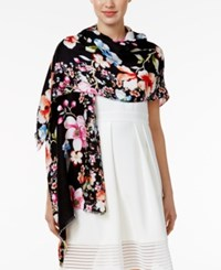 Inc International Concepts Butterfly Garden Wrap Only At Macy's Black