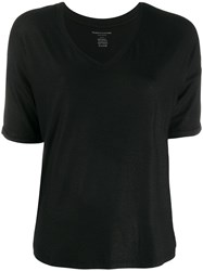 Majestic Filatures Dropped Shoulder T Shirt Black