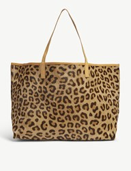 Mystique Amery Animal Print Hair And Leather Tote Leopard