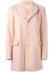 Red Valentino Single Breasted Coat Pink And Purple