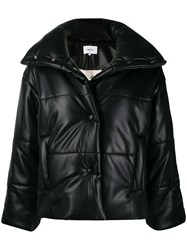 Nanushka High Neck Puffer Jacket Black