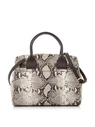 Furla Lucky M Snake Print Tote Natural