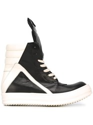 Rick Owens 'Geobasket' Hi Top Sneakers Black