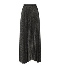 Alice Olivia Katz Pleated Maxi Skirt Female Grey