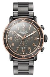 Shinola The Runwell Chronograph Bracelet Watch 48Mm Gunmetal Stone Gunmetal