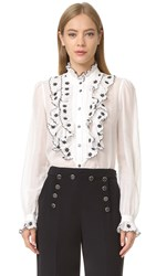 Temperley London Etta Shirt Black Mix