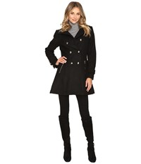 Jessica Simpson Military Double Breasted Braided Wool Black Women's Coat