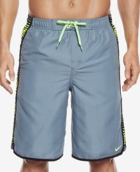Nike Men's Swift Splice Volley Swim Trunks 11 Blue Graphite