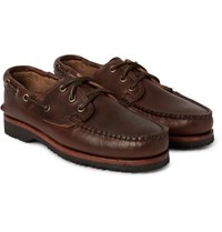 Quoddy Leather Boat Shoes Brown