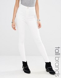 Missguided Tall High Waisted Skinny Jean White