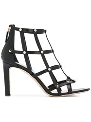 Jimmy Choo 'Tina' Studded Cage Sandals Women Calf Leather Leather 36 Black