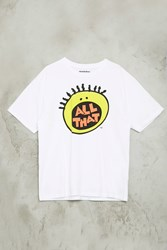 Forever 21 All That Graphic Tee White Black