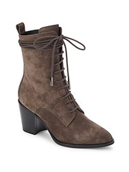 Sigerson Morrison Duran Wraparound Laced Boots Medium Brown