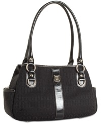 Giani Bernini Annabelle Signature Swagger Satchel Black Black