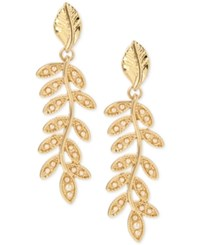 Inc International Concepts M. Haskell For Gold Tone Imitation Pearl Vine Drop Earrings Only At Macy's